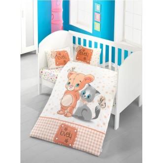 Детское постельное белье Mouse and Cat в кроватку Victoria
