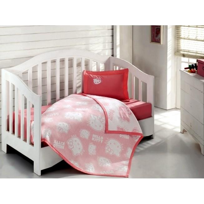 Детское постельное белье Hello Kitty 2300-02 в кроватку Virginia Secret