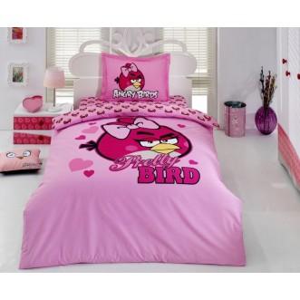 Купить детское постельное белье 02 ANGRY BIRDS 1.5 спальное Virginia Secret