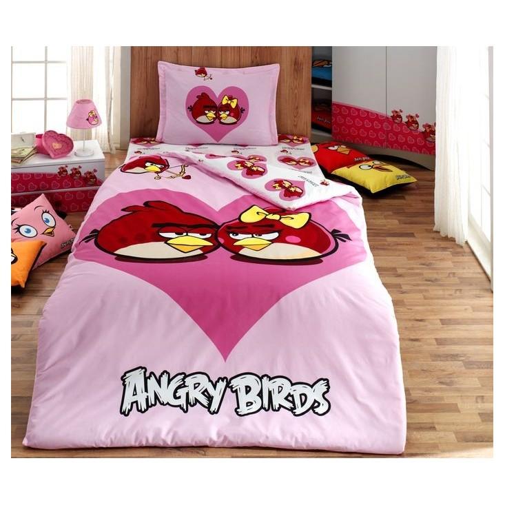 Купить детское постельное белье 04 ANGRY BIRDS 1.5 спальное Virginia Secret