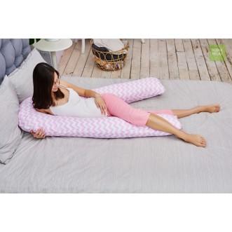 Наволочка для подушки U340 Зигзаги розовые