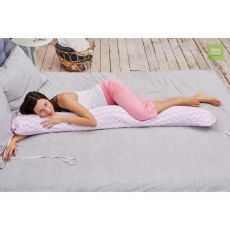Наволочка Зигзаги розовые для подушки бумеранг I 170 Mama Relax фото