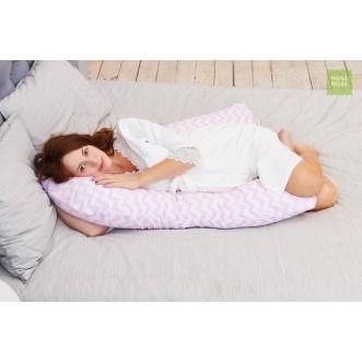 Купить наволочку для подушки U280 Mama Relax Зигзаги розовые в магазине Lux Postel