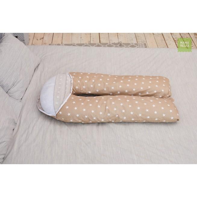 Наволочка для подушки U280 Звездочки кофе Mama Relax
