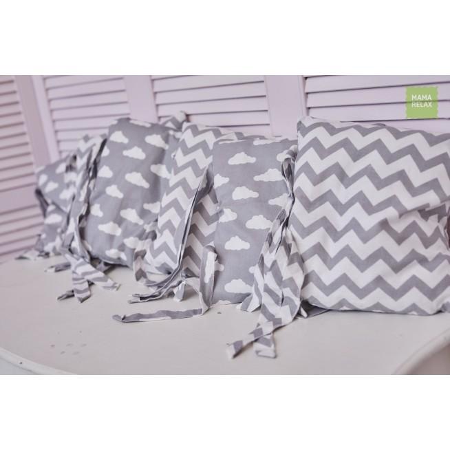Купить бортики в кроватку Зефир со съемными чехлами 12 шт Mama Relax в магазине Lux Postel