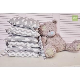Бортики в кроватку Зефир со съемными чехлами 12 шт Mama Relax