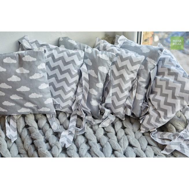 Бортики в кроватку Зефир со съемными чехлами 12 шт Mama Relax фото