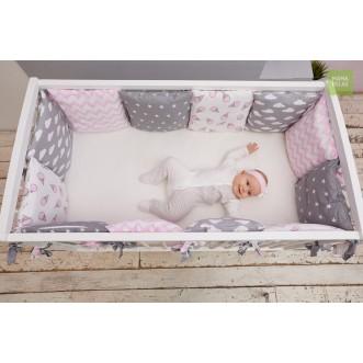 Бортики в кроватку Клубника со сливками со съемными чехлами 12 шт Mama Relax фото