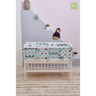 Купить бортики в кроватку Нежные сны со съемными чехлами 12 шт Mama Relax в магазине Lux Postel