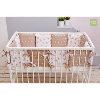 Купить бортики в кроватку Сладкая звездочка со съемными чехлами 12 шт Mama Relax в магазине Lux Postel