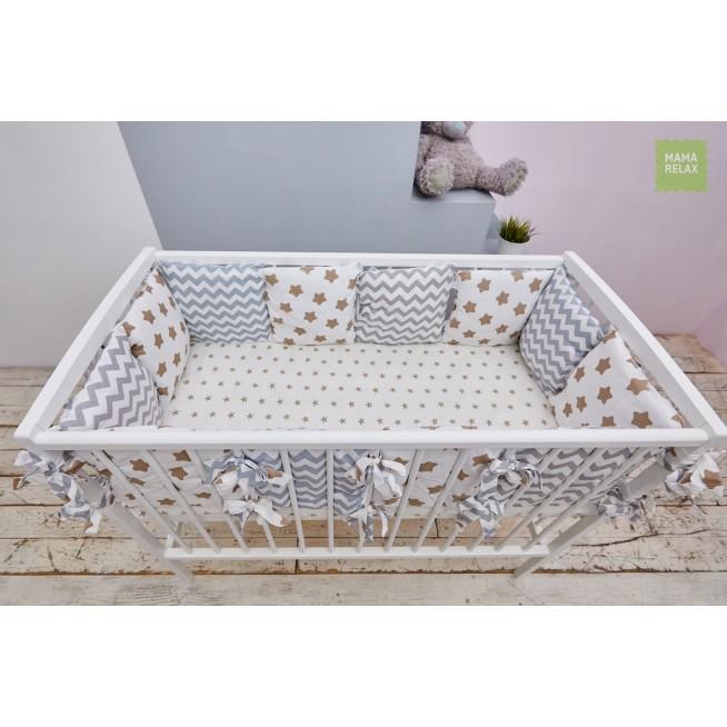 Купить бортики в кроватку Прянички со съемными чехлами 12 шт Mama Relax в магазине Lux Postel