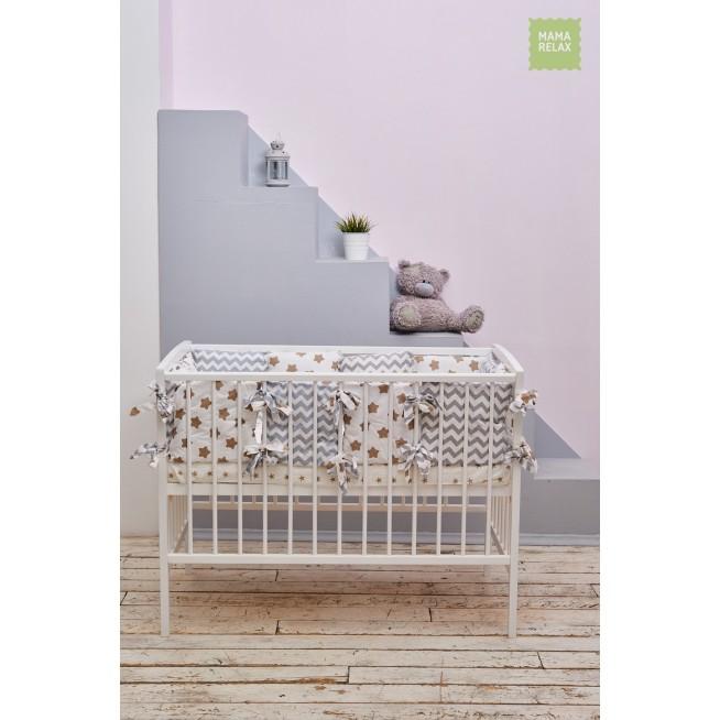 Бортики в кроватку Прянички со съемными чехлами 12 шт Mama Relax