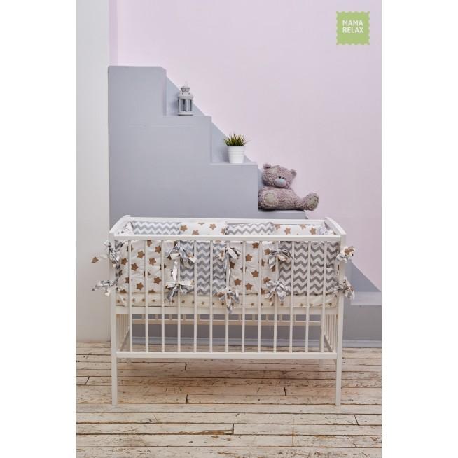 Бортики в кроватку Прянички со съемными чехлами 12 шт Mama Relax фото