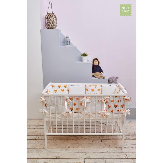 Купить бортики в кроватку 12 шт Mama Relax Лисички в магазине Lux Postel