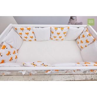 Бортики в кроватку Лисички