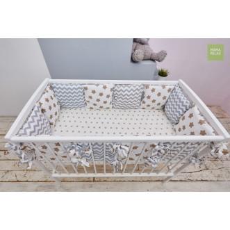 Купить бортики в кроватку 12 шт Mama Relax Прянички в магазине Lux Postel