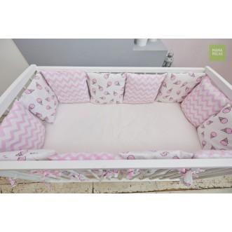 Купить комплект чехлов для бортиков Розовые мечты Mama Relax в магазине Lux Postel