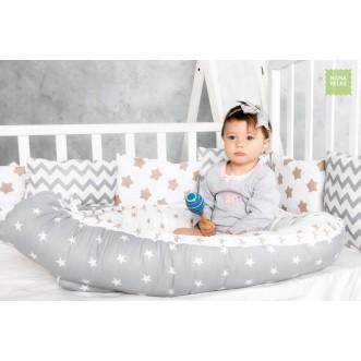 Купить гнездышко для новорожденного Молочный шоколад Mama Relax в магазине Lux Postel