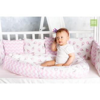 Купить гнездышко для новорожденного Розовые мечты Mama Relax в магазине Lux Postel
