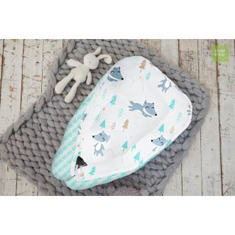 Купить гнездышко для новорожденного Лисички в лесу Mama Relax в магазине Lux Postel