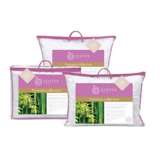 Купить подушку Бамбук Premium 70х70 Ecotex в магазине Lux Postel