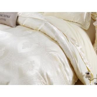 Белье постельное жаккард с вышивкой H046 Евро СИТРЕЙД