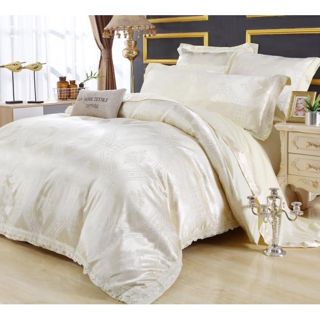 Подарочный жаккард с вышивкой белье постельное H046 Евро СИТРЕЙД