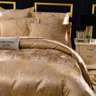 Подарочный жаккард с вышивкой белье постельное H047 2 спальное СИТРЕЙД