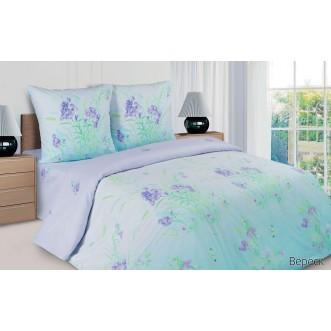 Купить постельное белье поплин 2 спальное простынь на резинке Вереск Экотекс