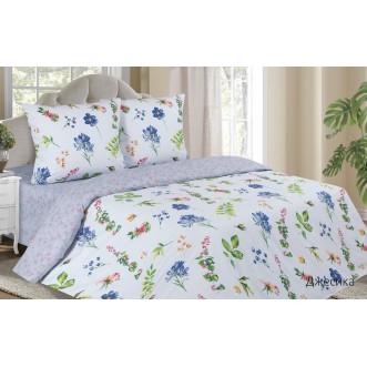 Купить постельное белье поплин 2 спальное простынь на резинке Джесика Экотекс