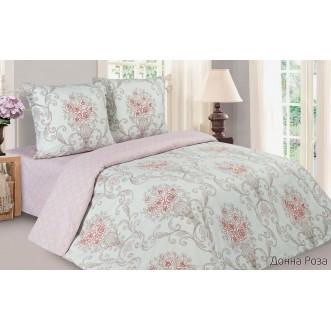 Купить постельное белье поплин 2 спальное простынь на резинке Донна Роза Экотекс