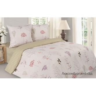 Купить постельное белье поплин 2 спальное простынь на резинке Люксембургский Сад Экотекс