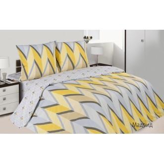 Купить постельное белье поплин 2 спальное простынь на резинке Мадрид Экотекс