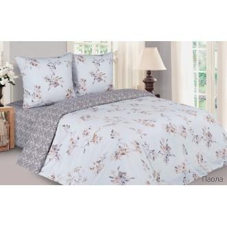 Купить постельное белье поплин 2 спальное простынь на резинке Паола Экотекс