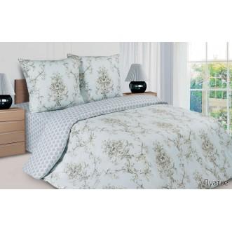 Купить постельное белье поплин 2 спальное простынь на резинке Пуатье Экотекс