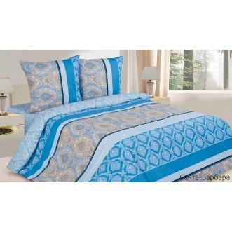 Купить постельное белье поплин семейное Санта-Барбара Экотекс