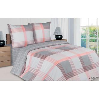 Купить постельное белье поплин 2 спальное простынь на резинке Уэльс Экотекс