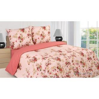 Купить постельное белье поплин 2 спальное простынь на резинке Флер Де Лиз Экотекс