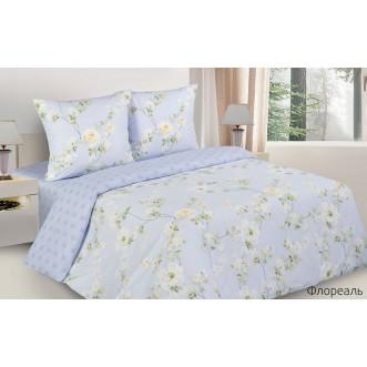 Купить постельное белье поплин 2 спальное Флореаль Экотекс