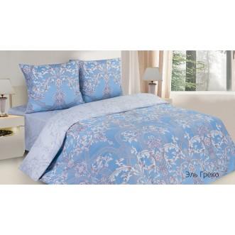 Купить постельное белье поплин евро простынь на резинке Эль Греко Экотекс