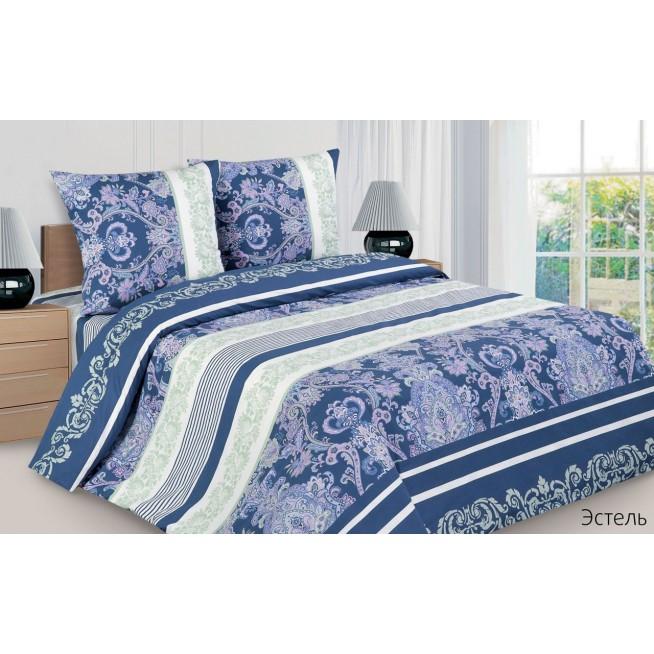 Купить постельное белье поплин 2 спальное Эстель Экотекс