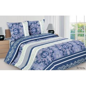 Купить постельное белье поплин семейное Эстель Экотекс