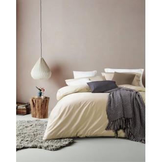 Купить постельное белье мако сатин Однотонное CIS07-20 евро Cristelle