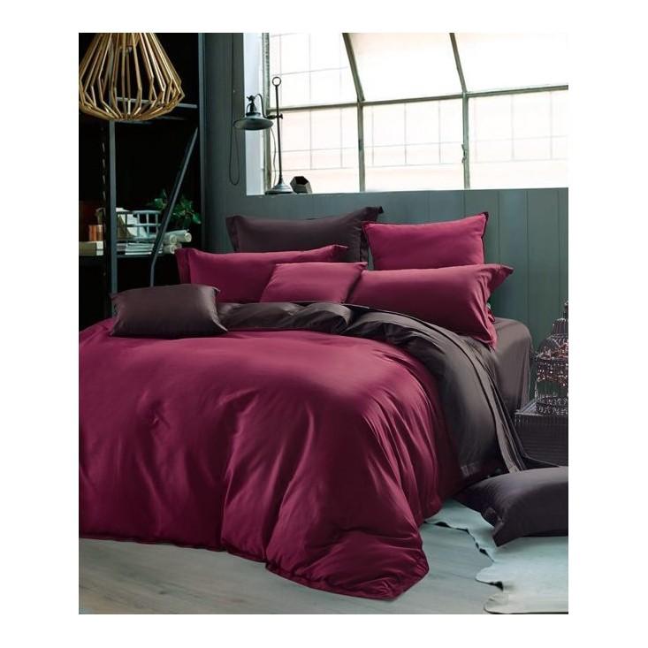 Купить постельное белье мако сатин Однотонное CIS07-22 евро Cristelle