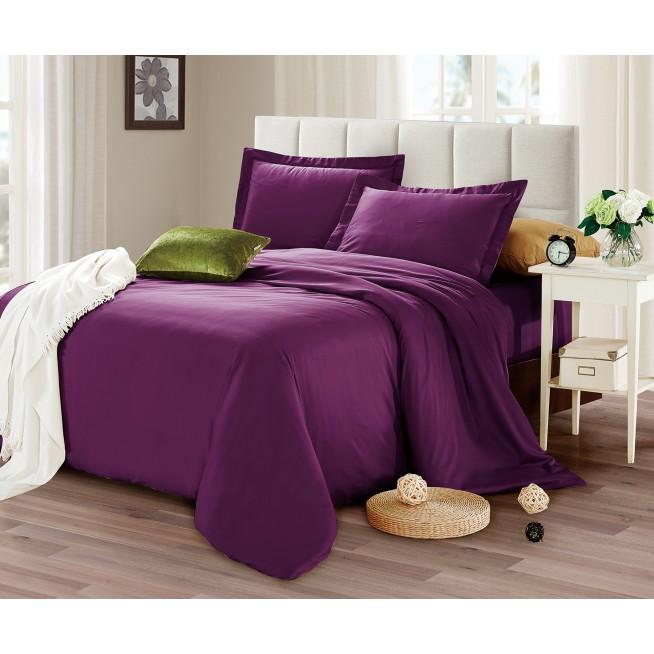 Купить постельное белье мако сатин Однотонное CIS07-29 евро Cristelle