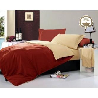 Купить постельное белье Однотонное простынь на резинке JT24 евро Tango