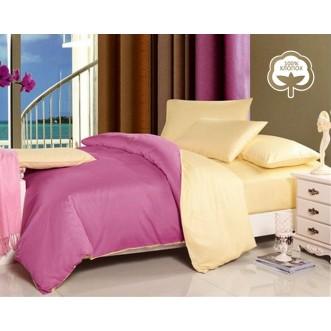 Купить постельное белье Однотонное простынь на резинке JT34 евро Tango