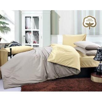 Купить постельное белье Однотонное простынь на резинке JT03 евро Tango