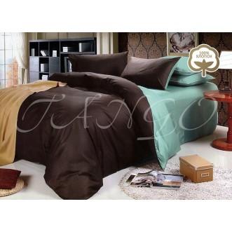 Купить постельное белье Однотонное простынь на резинке JT49 евро Tango