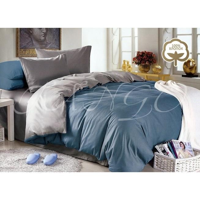Купить постельное белье Однотонное простынь на резинке JT50 евро Tango